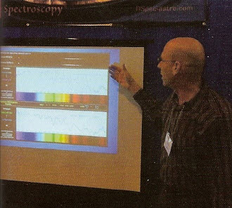 Tom pointing out the highlights of a spectrum